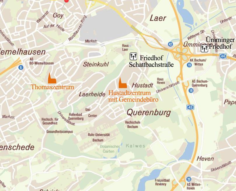 Bochum Karte.Kg Querenburg Evangelische Kirchengemeinde Querenburg